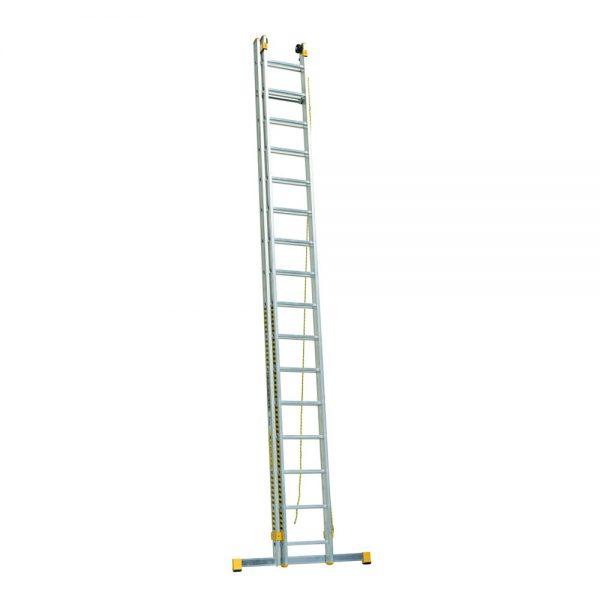 Dvojdielny výsuvný rebrík rozšírená verzia s lanom ALVE Forte