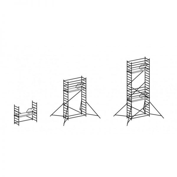 Pojazdné hliníkové lešenie AL700 - 70094 modul 1 2 3
