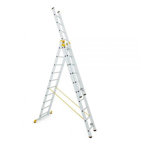 Trojdielny univerzálny rebrík ALVE Forte