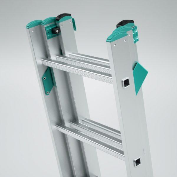 Trojdielny univerzálny rebrík s úpravou na schody ALVE Eurostyl PROFI